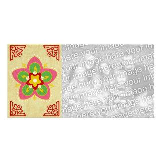 happy diwali rangoli photo card