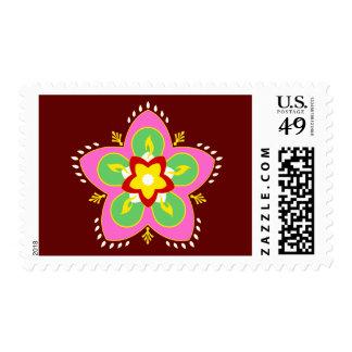 happy diwali : rangoli postage