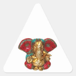 Happy DIWALI -  Thank you GANAPATI Ganesh Triangle Sticker