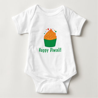 Happy Diwali with Cupcake Baby Bodysuit