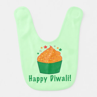 Happy Diwali with Cupcake Bib