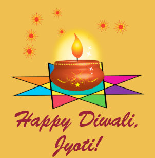 Happy Diwali with Lantern Name Customizable Wrapping Paper