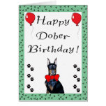 Happy Dober-Birthday Greeting Card