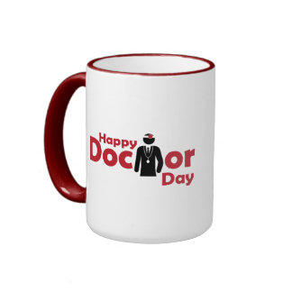Happy Doctor Day Ringer Mug