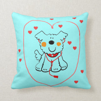 HAPPY DOCTOR DOG PILLOW - HEALING HEARTS AND PUP