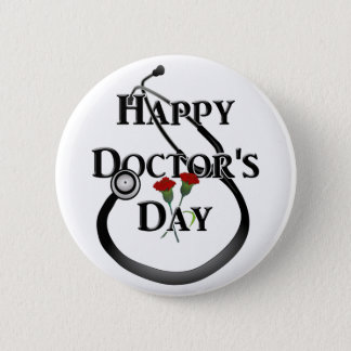 Happy Doctor's Day Button