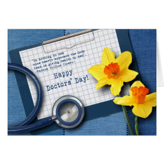 Happy Doctors' Day. Customizable Greeting Cards Card