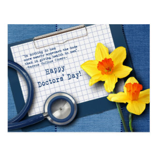 Happy Doctors' Day. Customizable Postcards