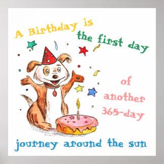 Happy Birthday Dog Posters Zazzle