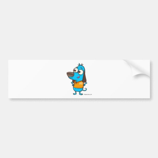 Happy Dog Bumper Sticker