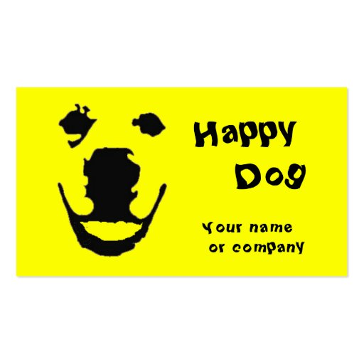 Happy Dog Business Cards
