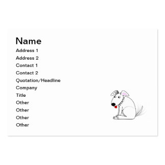 Happy dog cartoon large business card