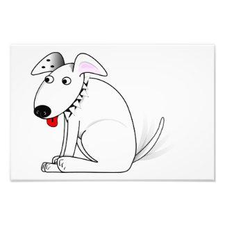 Happy dog cartoon photo print
