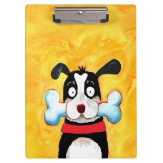 happy dog clipboard