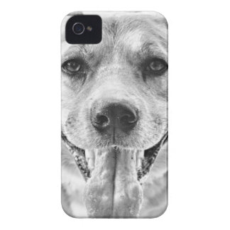 Happy Dog face iPhone 4 4s case mate case