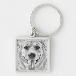 Happy Dog face keychain