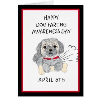 Happy Dog Farting Awareness Holiday Card