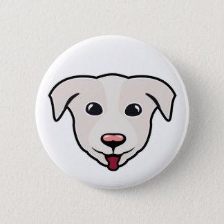 Happy Dog Illustration Button