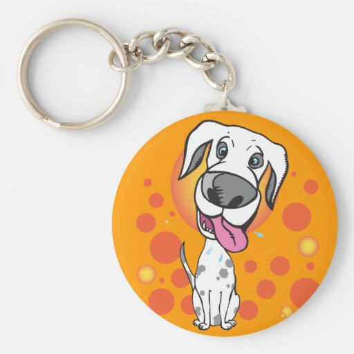 Happy Dog Key Chain