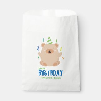 Happy Dog Kid's Birthday Party Favor Bags