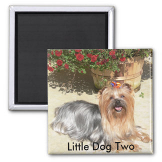happy dog, Little Dog Two - Customized Magnet