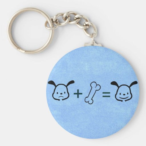 Happy Dog Math - Blue Keychain
