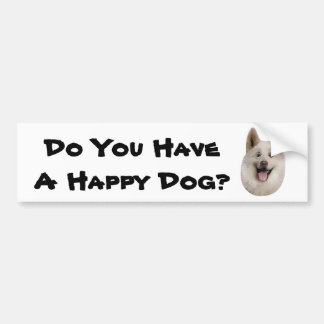 Happy_Dog_Mult_Products Bumper Sticker