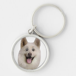 Happy_Dog_Mult_Products Llavero Redondo Plateado