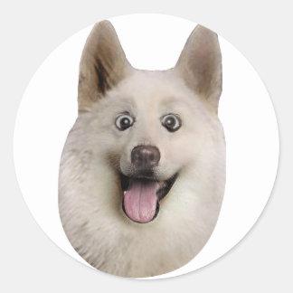 Happy_Dog_Mult_Products Pegatina Redonda