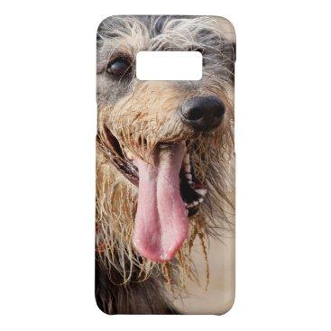 Beach Themed Happy dog on a beach Case-Mate samsung galaxy s8 case