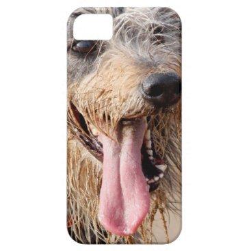 Beach Themed Happy dog on a beach iPhone SE/5/5s case