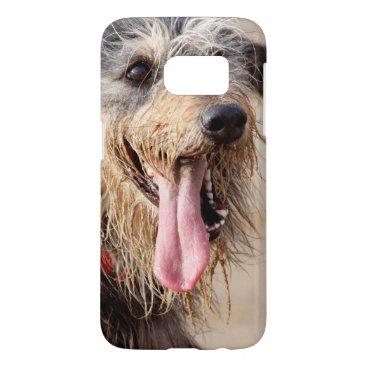 Beach Themed Happy dog on a beach samsung galaxy s7 case