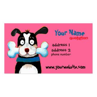 happy dog profile card business card