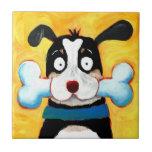 """happy dog tile<br><div class=""""desc"""">happy dog (C) Lucia Salemi</div>"""