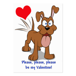 Happy Dog Valentine Cards to Hand Out for Kids Business Card Templates