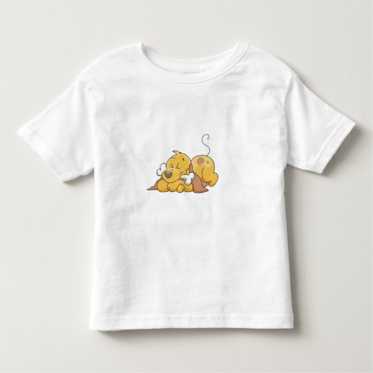 Happy Dog with Bone Toddler T-shirt