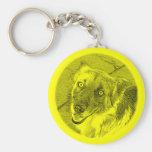 Happy dog - Yellow Llavero Personalizado