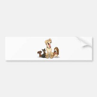 Happy Dogs Bumper Sticker