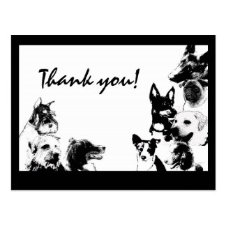 Happy dogs, Thank you! Postcard