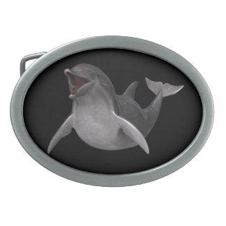 Happy Dolphin Belt Buckle