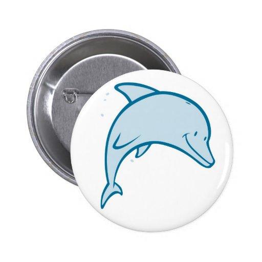 Happy Dolphin Pinback Button