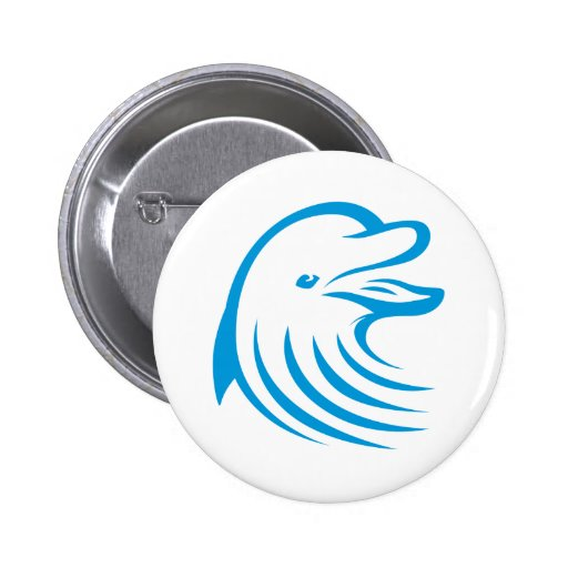 Happy Dolphin Pinback Buttons