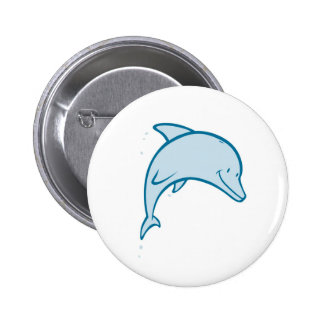 Happy Dolphin Button