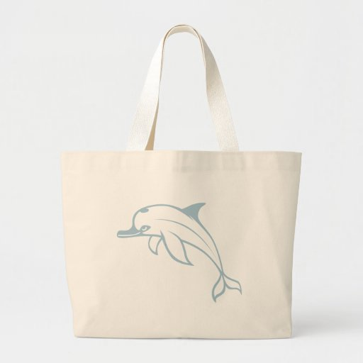 Happy Dolphin Canvas Bags