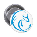 Happy Dolphin in Swing Drawing Style Pinback Buttons