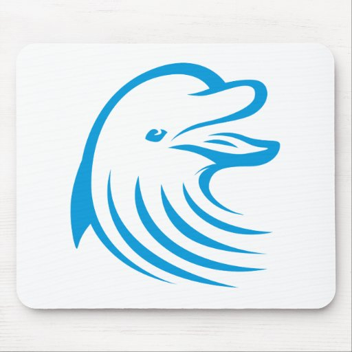 Happy Dolphin Mouse Pad