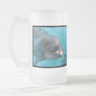 Happy Dolphin Glass Beer Mugs