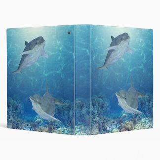 happy dolphins 3 ring binder