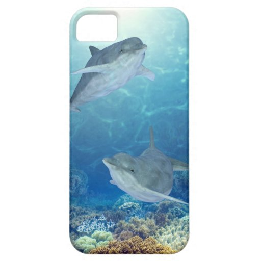 happy dolphins iPhone 5 case