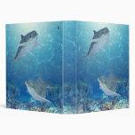 happy dolphins vinyl binders